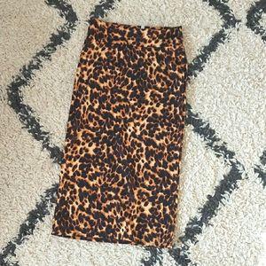Animal print pencil skirt NWT size S